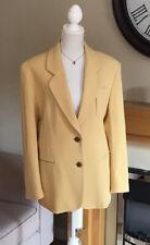Ladies Equestrian 100% Wool Yellow Jacket Size 20