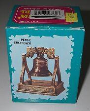 Miniature Liberty Bell Pencil Sharpener Die-cast Metal Rings/rocks 3