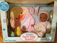 "Madame Alexander Doll Sweet Baby Nursery 12"" AA Bath Time Set Retired 2007 46968"