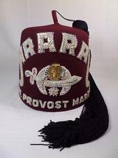 Mason Freemason Ararat Shriner Asst Provost Marshall Jeweled  Fez Hat Cap Case