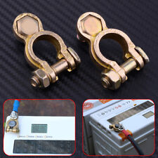 2x Copper Car Battery Terminal Pile Head Clamp Clips Connector Negative&Positive