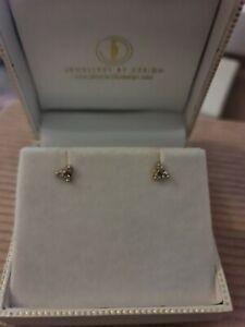 9k Rose Gold Diamonds Flower Stud Earrings.