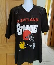 VINTAGE CLEVELAND BROWNS MENS XL FOOTBALL MESH JERSEY BROWN