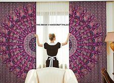 Paisley Mandala Ethnischen Vorhänge Indischen Fenstertür Dekor Kunst Volant Boho