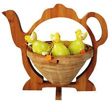 Huhn Eierkorb Obstschale Klappschale 30x30cm Brot Obst Osterkorb Topfuntersetzer