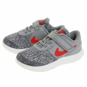 Nike Kids Flex Contact (Infant/Toddler), 917935 003 Multi Sizes Cool Grey/Un Red