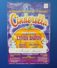 THEATRE FLYER CINDERELLA SIGNED BY MICHAEL MEDWIN [ THE ARMY GAME ]