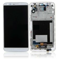 Display LCD Schermo Touch Digitizer Screen Completo LG G2 D802 BIANCO CON FRAME