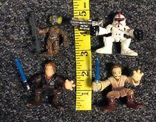 Galactic Heroes Star Wars Mixed toy Lot 4 Lom Obi Wan Anakin Red Clone Trooper