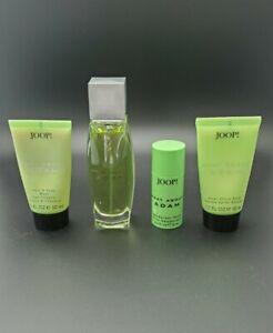 RARE Joop Men WHAT ABOUT ADAM 2.5/75mL Set w/ Aftershave, Shower Gel & Deodorant