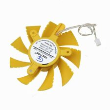 10pcs Yellow 75mm x 15mm VGA Cooling Cooler Fan 2Pin 12V Mounting Hole 42.5mm