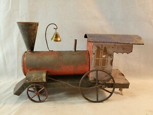 Original Late 1800's Fallows ? Ives ? Tin Locomotive Train With CI Wheels NO Res