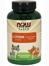 NOW, Pets L-Lysine Powder (Cats) 8 oz each - 2 Bottles