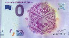 BILLET 0  EURO LES CATACOMBES DE PARIS  FRANCE 2017-3  N° DIVERS