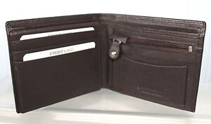 Golunski Brown Leather Wallet with Zip Coin Section