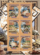 Guinea Turtles Stamps 2008 MNH Leopard Tortoise Rugby Sports Reptiles 6v M/S