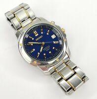 Vintage Seiko Men's Perpetual Calendar Stainless Quartz Watch 6a32-00B0 (AS IS)