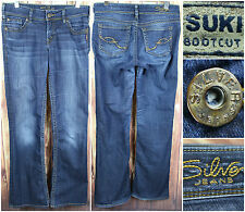 Silver Jeans Woman's Suki Bootcut Denim Pants Size 28 x 34 Actual Size 31 x 32