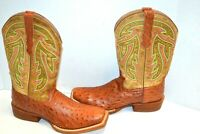 Wth0007 Twisted X Womens Neon Green Top Hand Cowgirl Boot Square Toe