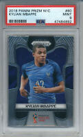2018 Panini Prizm World Cup Kylian Mbappe #80 Rookie  France PSA 9 MINT