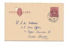 1953 H&B Cp104c Used to North Shields Kgvi 2d Red-brown L26 Ps Postcard Lovely