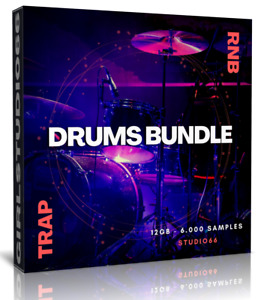 Trap Beats and RnB Drums Bundle 6.000 WAV Samples Loops FL Studio, Logic Cubase
