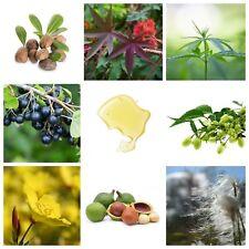 Organic Natural Carrier Oils for Aromatherapy Massage Base Skin beauty - 10ml UK