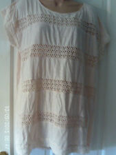 PEACH SLEEVELESS TOP BY H & M, SIZE SMALL