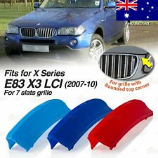 M-Performance 7 BARS Kidney Grille 3 Color Cover Clip for BMW X3 E83 LCI 2007-10