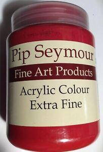 Pip Seymour Cadmium Red Deep (Hue) Acrylic Paint 500ML. New Unused