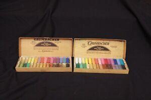 Lot of Vintage Grumbacher Fine Artist Soft Chalk Pastels Set No. C & 00/C