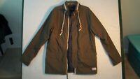 Nixon Womens Utility Jacket Coat Size Large Olive Green, Hooded  Light Weight