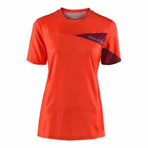 Troy Lee Designs Women's Skyline Short Sleeve Jersey Orange Small