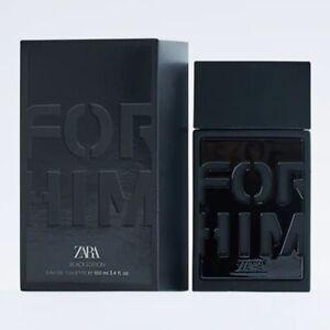 ZARA FOR HIM BLACK EDITION * 3.4 oz (100 ml) EDT Spray * NEW & SEALED