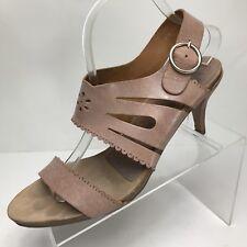 49ff11f355e Pedro Garcia Women 42 US 12 Nude Tan Leather Heel Sandal Lasercut Slingback