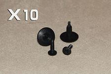 SMART ROADSTER 6mmHole Rivetto In Plastica Clip Di Bloccaggio Del Pannello 10PCS