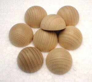 Halbkugeln Ø 30 mm Holzhalbkugeln Buche natur
