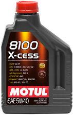 MOTUL MOTORÖL AUTO 8100 X-CESS 5W-40 100% KUNSTSTOFF 1 LITER für Auto OPEL