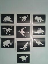 30 x dinosaur stencils boys girls glitter tattoos fund raising children