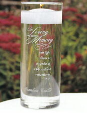Engraved Personalized Memorial In Loving Memory Glass Wedding Cylinder