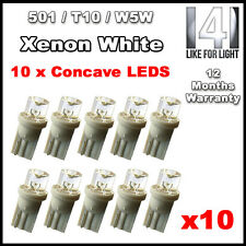10 x LED Side Light / Interior / Number plate Bulbs T10 W5W 501 Xenon White