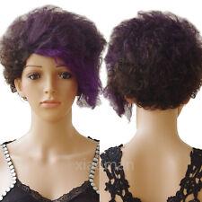 Top Malaysian Human Hair Full Wig Pixie Cut Short Hair Wigs Natural Black Soft C