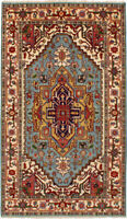 "Hand-Knotted Carpet 4'11"" x 8'6"" Traditional Oriental Wool Area Rug"
