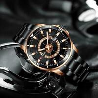 CURREN 8359 Men's Stainless Steel Quartz Analog Sports Wrist Watch Waterpro D4C9