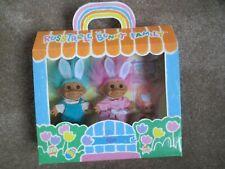 Russ Brand Troll Dolls Original Boxed Set Bunny Family Vintage