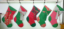 Custom family quilted Christmas stockings