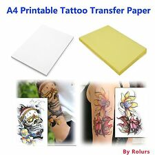 10 Sheets DIY A4 Temporary Tattoo Transfer Paper Printable Customize... [NO VAT]