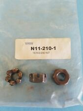 (3) Castle Nuts Tie Rod End-Volkswagen Beetle -68, Ghia,-68 Type II - Type III