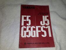 YAMAHA F5 J5 G5G FS1 GENUINE SERVICE MANUAL
