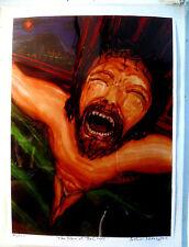 ORIGINAL PRINT Arthur Robins JESUS Christ cross crucified Holy Spirit Art NYCart